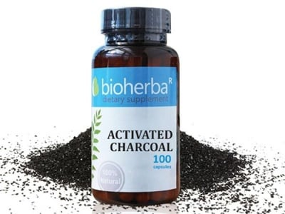 Bioherba activated charcoal 350 mg 100 capsules / Биохерба Активен въглен 350 мг 100 капсули