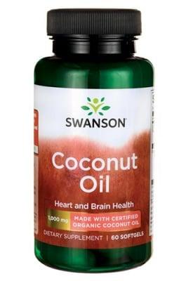 Swanson Coconut oil EFA 60 softgels / Суонсън Кокосово масло ЕФА 60 капсули