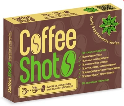 Coffee Shot 30 chewable tablets Cvetita / Кофи шот 30 дъвчащи таблетки Цветита