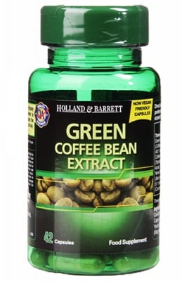 Green coffee bean extract 400 mg 42 capsules Holland & Barrett / Зелено кафе екстракт 400 мг 42 капсули Holland & Barrett
