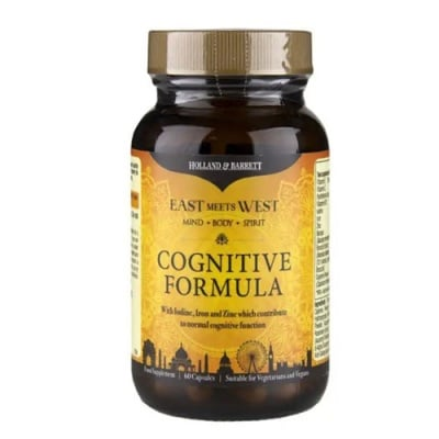 Cognitive Formula 60 capsules Holland & Barrett / Когнитив формула за памет и концентрация 60 капсули Holland & Barrett