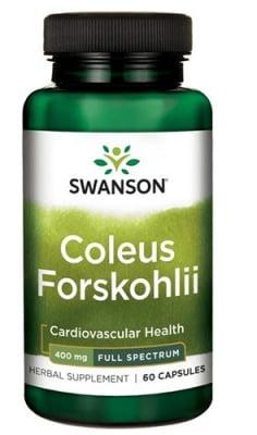 Swanson Coleus forskohlii 400 mg 60 capsules / Суонсън Колеус форсколий 400 мг 60 капсули