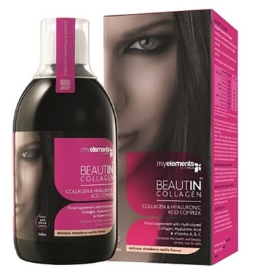 Beautin Collagen with strawberry and vanilla flavor 500 ml. / Бютин Колаген разтвор с вкус на ягода и ванилия 500 мл.