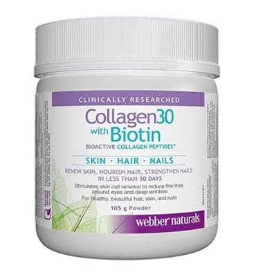 Collagen 30 with biotin powder 105 g Webber Naturals / Колаген 30 + биотин пудра 105 гр. Уебър Натуралс