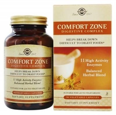 Comfort zone digestive complex 90 capsules Solgar / Комфортна зона хранителен комплекс 90 капсули Солгар