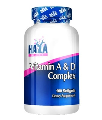 Haya Labs Vitamin A + Vitamin D complex 100 capsules / Хая Лабс Витамин A + Витамин Д комплекс 100 капсули
