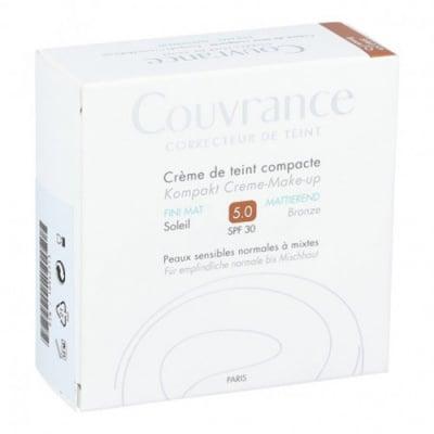 Avene Couvrance compact foundation cream 5.0 SPF 30 Bronze / Авен Кувранс компактна Крем-пудра комфорт 5.0 SPF 30 Бронз