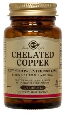 Chelated copper 2.5 mg 100 tablets Solgar / Мед хелатиран 2,5 мг. 100 таблетки Солгар