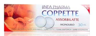 Coppette assorbilatte nursing breast pads Linea super soft white 30 pcs / Абсорбиращи подложки за кърмачки за гърди Линеа - Копете с бял цвят 30 броя