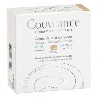 Avene Couvrance Compact foundation cream МАТ effect SPF30 02 Natural / Авен Кувранс Компактна крем - пудра с матиращ ефект SPF30 02 Натурал