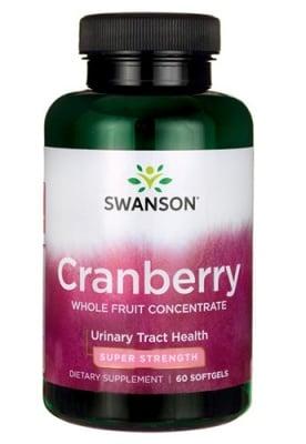 Swanson Super strength cranberry concentrate 60 capsules / Суонсън Червена боровинка концентрат 60 капсули