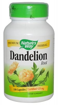 Dandelion 525 mg 100 capsules Nature's Way / Глухарче корен 525 мг. 100 капсули Nature's Way