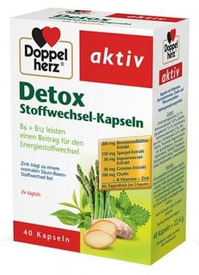 Doppelherz Activ Detox Complex 40 capsules / Допелхерц Актив Детокс Комплекс 40 капсули