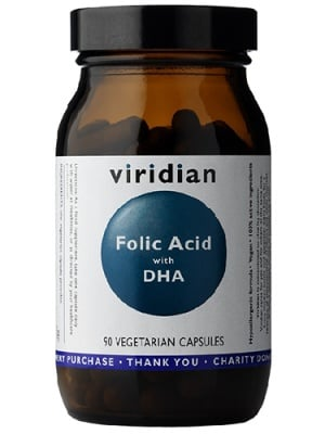 Folic acid with DHA 90 capsules Viridian / Фолиева киселина с DHA 90 капсули Виридиан