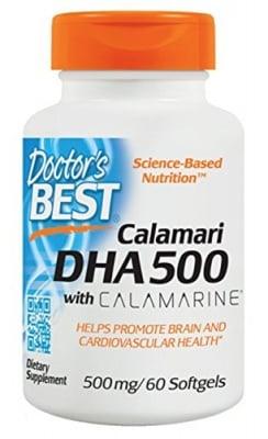 Doctor's Best DHA Omega 500 mg 60 capsules / Доктор'с Бест DHA Омега 500 мг. 60 капсули