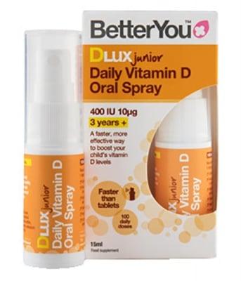 Better You Dlux daily Vitamin D oral spray junior 400 IU 15 ml. / Бетър Ю Интра - Орален спрей с Витамин Д за деца 400 IU 15 мл.
