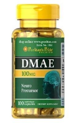 Puritan's Pride DMAE 100 mg 100 capsules / Пуританс Прайд ДМАЕ (диметиламиноетанол) 100 мг. 100 капсули