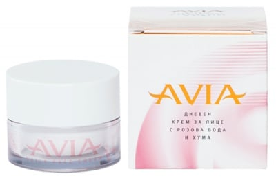 Avia Daily face cream with rose water and clay 40 ml. / Авиа Дневен крем за лице с розова вода и хума 40 мл.