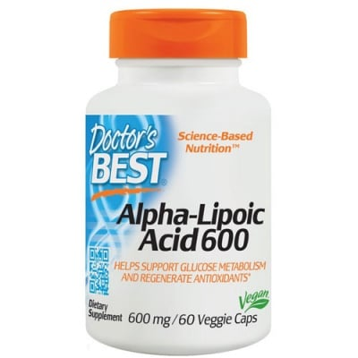 Doctor's Best Alpha Lipoic Acid 600 mg 60 capsules / Доктор'с Бест Алфа Липоева киселина 600 мг. 60 капсули