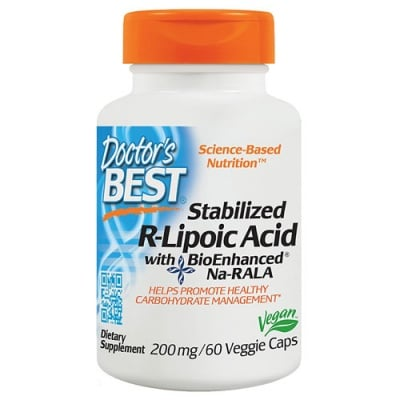 Doctor's Best Stabilized R-Lipoic Acid 200 mg 60 capsules / Доктор'с Бест Стабилизирана R-Липоева киселина 200 мг. 60 капсули