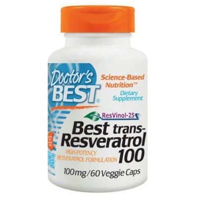 Doctor's Best Resveratrol 100 100 mg 60 capsules / Доктор'с Бест Ресвератрол 100 мг. 60 капсули