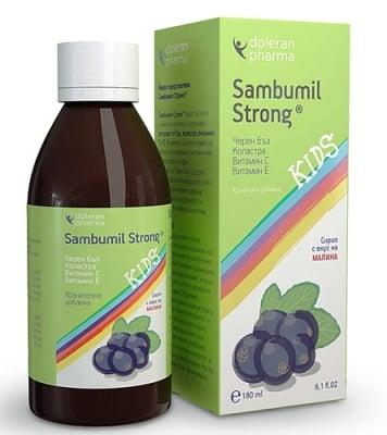 Sambumil strong kids syrup 100 ml. / Самбумил стронг кидс сироп 100 мл