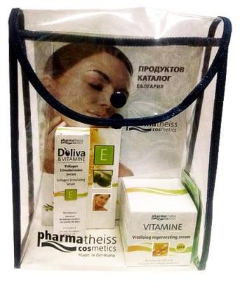 Doliva Set Vitamin face cream SPF 6 50 ml. + Vitamine collagen stimulating face serum 15 ml. / Долива Комплект Витаминен крем за лице SPF 6 50 мл. + Колаген стимулиращ серум за лице 15 мл.