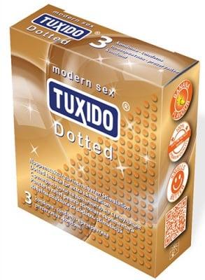 Tuxido Dotted condoms of natural latex 3 / Презервативи Туксидо Дотед от естествен латекс 3 броя.