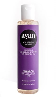 Ayan Shampoo with bulgarian lavender dry and damaged hair 200 ml. / Аян Шампоан с Лавандула за суха и изтощена коса 200 мл.