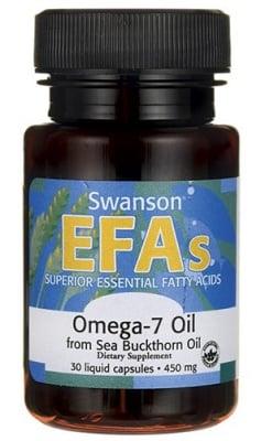 Swanson Omega-7 from sea buckthorn oil EFA's 30 capsules / Суонсън Омега 7 масло от морски зърнастец ЕФА 30 капсули