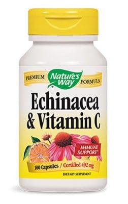Echinacea + Vitamin C 100 capsules Nature's Way / Ехинацея + Витамин Ц 100 капсули Nature's Way