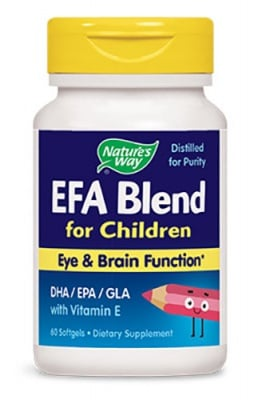 EFA blend for children 60 capsules Nature's Way / Ефа Бленд за деца 60 капсули Nature's Way
