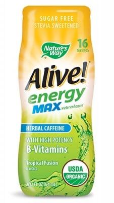 Alive Energy caffeine free tropical fusion 64 ml. Nature's Way / Алайв Енерджи без кофеин тропик 64 мл. Nature's Way