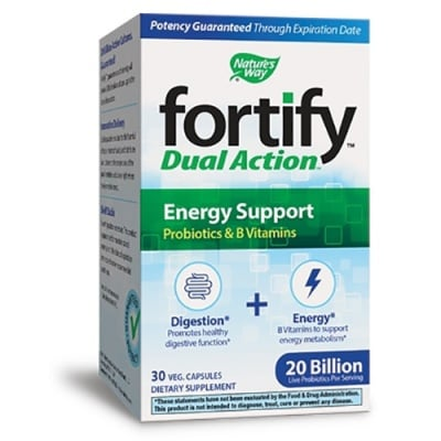 Fortify dual action energy support 30 capsules Nature's Way / Фортифай Дуал Акшън Енерджи съпорт 30 капсули Nature's Way