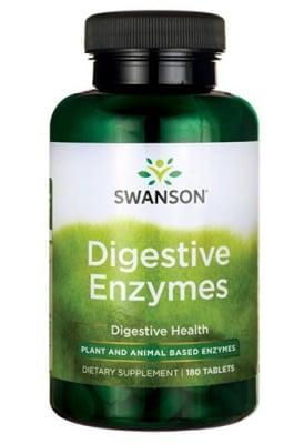 Swanson digestive enzymes 180 tablets / Суонсън Храносмилателни ензими 180 таблетки