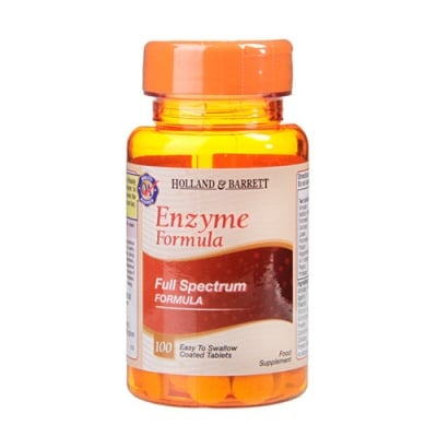 Enzyme Formula 100 tablets Holland & Barrett / Ензимна формула 100 таблетки Holland & Barrett