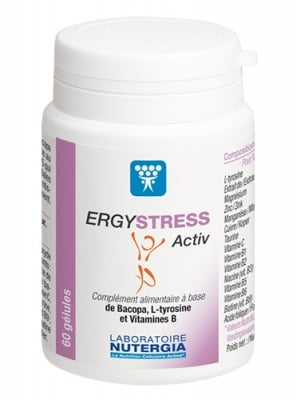 Ergystress activ 60 capsules Nutergia / Ержистрес актив 60 капсули Нутергиа