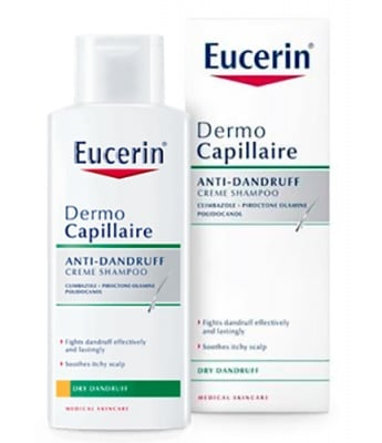 Eucerin DermoCapillaire Anti-dandruff cream shampoo for dry dandruff 250 ml. / Еуцерин Дермокапилер Шампоан против сух пърхот 250 мл.