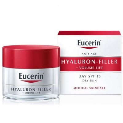 Eucerin Hyaluron Filler + Volume Lift Day cream for dry skin SPF 15 50 ml. / Еуцерин Хиалурон филър + Волюм лифт Дневен лифтинг крем за суха кожа SPF 15 50 мл.