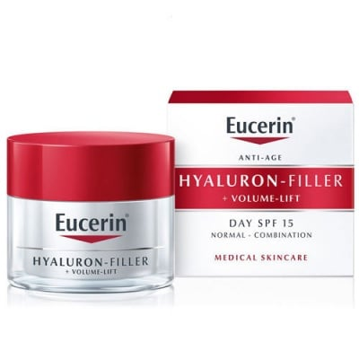 Eucerin Hyaluron Filler + Volume Lift Day cream for normal to combination skin SPF 15 50 ml. / Еуцерин Хиалурон филър + Волюм лифт Дневен лифтинг крем за нормална до смесена кожа SPF 15 50 мл.