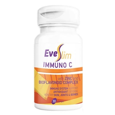 Eve Slim Immuno C with Zinc and Bioflavonoid Complex 30 softgels / Еве Слим Имуно Ц 30 дражета