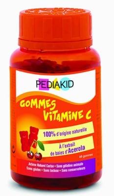 Pediakid Vitamin C 60 chewable gummies / Педиакид Витамин Ц 60 дъвчащи мечета