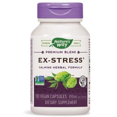 Ex-Stress Formula 445 mg. 100 capsules Nature's Way / Екс-Стрес формула за успокояване на нервната система 445 мг. 100 капсули Nature's Way