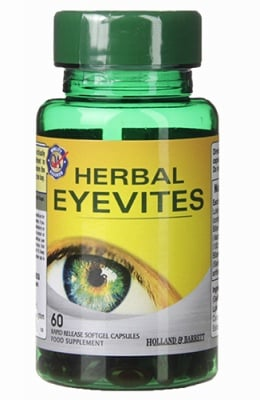 Herbal eyevites 60 capsules Holland & Barrett / Билки за здрави очи 60 капсули Holland & Barrett