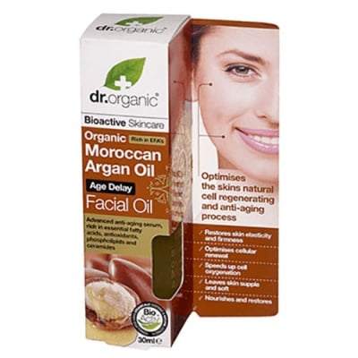 Dr. Organic Moroccan Argan Oil Facial oil 30 ml. / Др. Органик Арган Серум за лице с олио против стареене 30 мл.