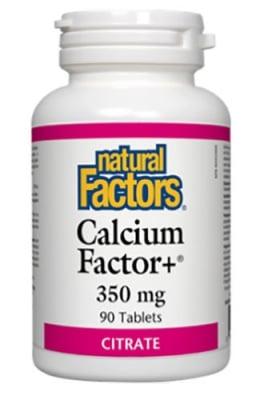 Calcium factor+ 350 mg 90 tablets Natural Factors / Калций Фактор+ 350 мг. 90 таблетки Натурал Факторс