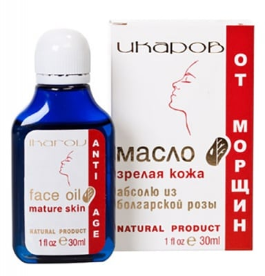 Ikarov Face oil mature skin with Bulgarian rose absolute 30 ml. / Икаров Масло против бръчки за зряла кожа 30 мл.