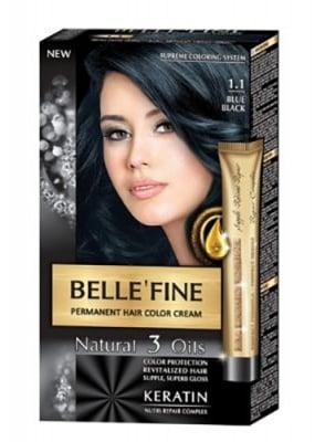 Belle'Fine hair color cream 1.1 blue black / Бел Файн боя за коса 1.1 Синьо-черен
