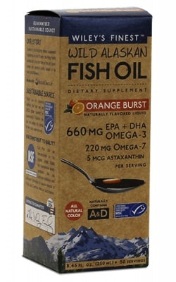 Wiley`s finest wild alaskan fish oil omega 3-7-9 + astaxanthin orange flavoured liqiud 60 ml / Рибено масло Омега 3-7-9 + Астаксантин течна формула с вкус на портокал 60 мл Wiley`s finest