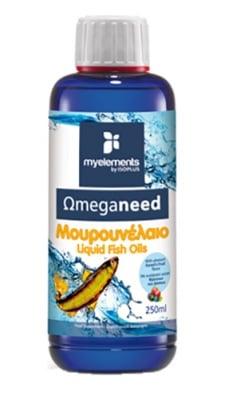 Omeganeed fish oils liquid 250 ml MYELEMENTS / Рибено масло от Треска Омеганийд разтвор 250 мл. MYELEMENTS